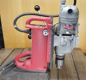 Milwaukee Electromagnetic Drill Press Base 4231 Drill Motor 4297 1 Magnetic