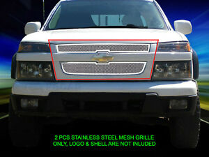Stainless Steel Mesh Grille Front Grill Insert For 2004 2012 Chevy Colorado