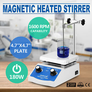 Sh 2 Magnetic Stirrer Hot Plate Dual Controls Digital Display Stir Bar Electric