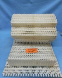 Habasit Flush Grid Plastic Conveyor Belt M5033 Npe 17 7 X 12 4 Flights