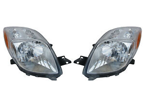 Pair Of Headlights Fit Toyota Yaris Hatchback 07 08 81130 52611 81170 52601
