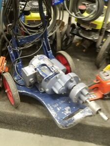 General Wire Model 88 Sewer Drain Snake Plumbing Machine 50 Cables Cutting Bits
