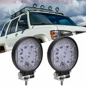 2x 27w Round Spot Work Light Bar Offroad Fog Driving Lamp Truck Tractor Suv Atv