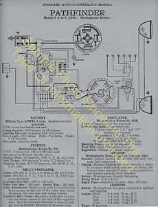 1923 1924 Buick 6 Cylinder Models Car Wiring Diagram Electric System Specs 559