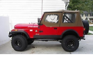 Rampage 1988 1995 Jeep Wrangler Spice Soft Top Upper Doors