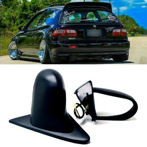 Fit 92 95 Civic 2 3dr Pair Powered Adjustable Spoon Style Jdm Side View Mirror