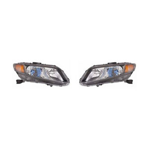 Fits 2012 Honda Civic Hybrid Headlight Pair Lh rh Bulbs Incl Ho2502145 ho2503145