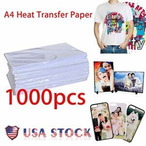 1000 Sheets A4 Dye Sublimation Heat Transfer Paper For Mug Cup Plate T Shirt Vp
