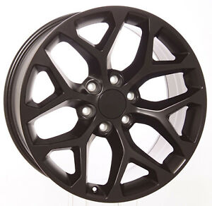 Gmc Sierra 20 Satin Black Snowflake Wheels Rims 2000 18 Yukon Denali Trucks Suv