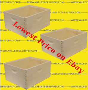 10 Frame Unassembled Deep Hive Bodies 3 Pack Free Shipping
