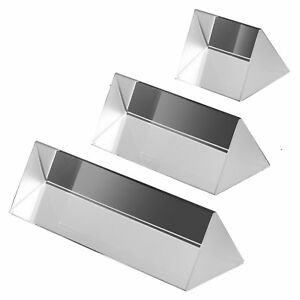 2 5 4 6 Amlong Crystal Optical Glass Triangular Prism For Teaching Light Of