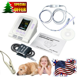 Contec08a Digital Veterinary Blood Pressure Monitor Nibp spo2 Probe sw Dog cat