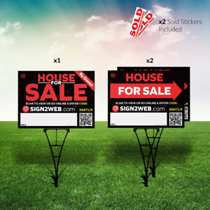 Web Enabled For Sale By Owner Real Estate Kit No Commission For Sale Signs I
