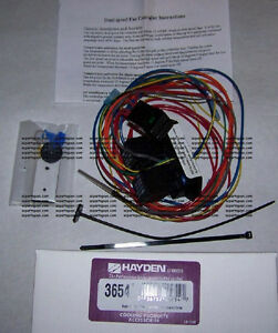 Hayden 2 Speed Electric Fan Control Switch 3654