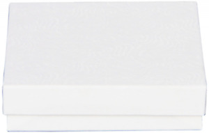 The Packaging Trust Jewelry Boxes 3 1 2 L X 3 1 2 W X 7 8 H White Swirl