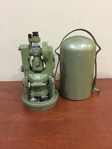 Wild Heerbrugg T1a Vintage Swiss Transit Engineers Theodolite W 2 Cases