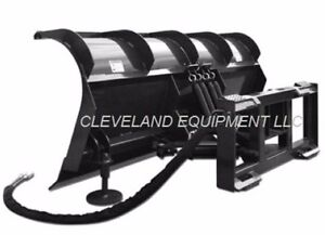 84 Cid Roll Top Snow Plow Attachment Skid steer Loader Hydraulic Angle Blade 7