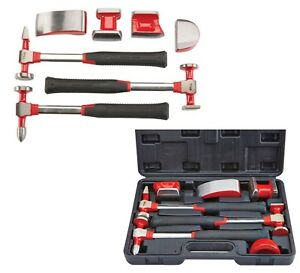 7 Pc Auto Body Fender Set Hammers And Dollies Ideal For Repair And Fabrication