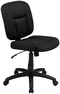 New Black Low Back Desk Office Computer Chair Padded Seat Adjustable Rolling