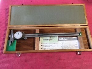 Excellent Mitutoyo 12 Inch Dial Caliper Centerline Offset Jaw machinist Tools
