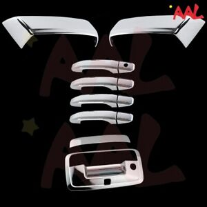 Aal For Chevy Silverado 2014 2018 Chrome Mirror Door Handle Tailgate Cover W Cam