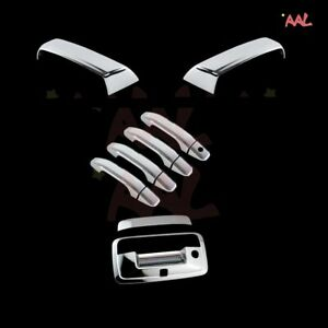 Aal For Chevy Silverado 2014 2018 Chrome Mirror Door Handle And Tailgate Cover