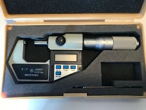 Mitutoyo Digimatic Micrometer 0 1 0005 Inch 001 Mm V293 705