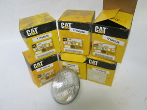 Lot Of 6 Oem Cat 6n 7987 Round Sealed Beam Headlight Lamp Light Caterpillar