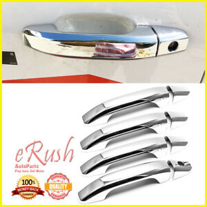For 2014 2019 Chevy Silverado 1500 2500 3500 8pcs 4dr Chrome Door Handle Cover