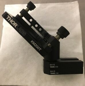 Thorlabs Km200t Tip tilt Mirror Mount With 2x Ba1s Mount And Post