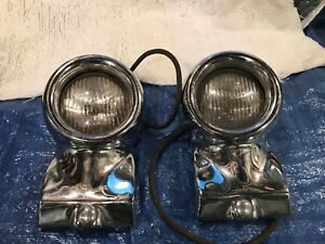 1955 1956 Ford Thunderbird Bumper Guards With Driving Lights