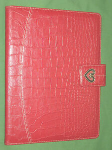8 5x11 Note Pad Red Reptile S Leather Buxton Binder Monarch Franklin Covey