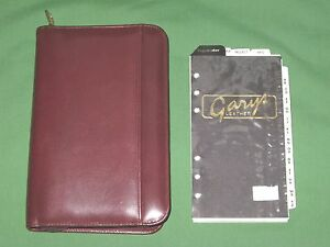 Compact 0 75 W Refill Red Leather Gary s Planner Lot Binder Franklin Covey