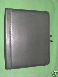 Monarch Black Leather Franklin Covey Planner Binder Note Pad 8 5x11 6028