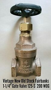 Vtg new old Stock Fairbanks Bronze Steam 1 1 4 Gate Valve 125 s 200 Wog