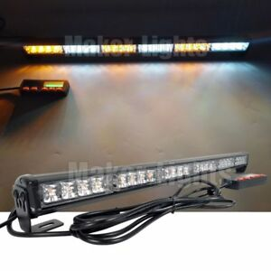 26 Led Light Bar Traffic Advisor Directional Tow Truck Warn Strobe Amber