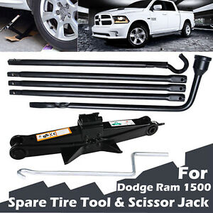 For Dodge Ram 1500 Tool Kit Spare Tire Lug Wrench 2 Ton Scissor Lifting Jack