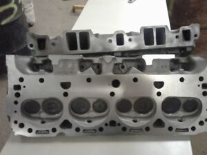 1966 Chevy Sbc 327 Double Hump Camelback Fuelie Cyl Heads 64cc 1 94