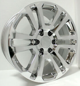 Chevy Silverado Tahoe Suburban 20 Split Spoke Chrome Wheels Rims Ck 158