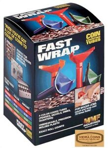 Fast Wrap Coin Counting Tubes From Cent To Quarter 1c 25c 28142 7