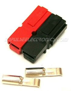 Anderson Powerpole Connector 30 Amp Red Black Bonded Housings 50 Pack