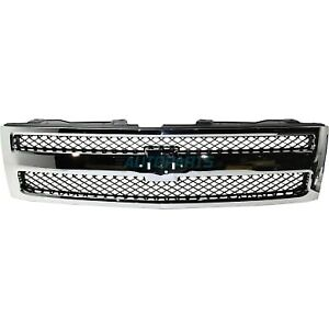 New Front Grille Fits 2007 2013 Chevrolet Silverado 1500 Gm1200572