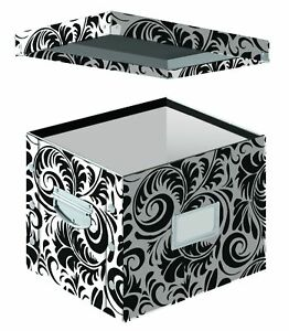 Document Storage Box Office File Organizer Filing Cabinet Letter Size Folders