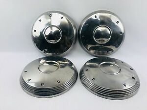 1961 1962 Ford Galaxie Starliner Sunliner Poverty Dog Dish Hubcaps Set Of 4