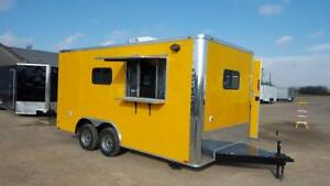 New 2018 8 5x16ta Concession Food Trailer W Range Hood Triple Sinks And More