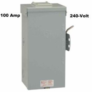 Ge Non fused Emergency Power Transfer Switch 100 Amp 240 volt Seismic Certified