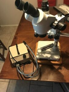 Mcbain Instruments Microscope Base Stand Light Slides Pre Owned