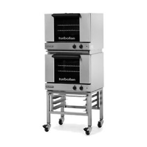 Moffat E22m3 2c Double Stacked Electric Turbofan Convection Oven With Casters