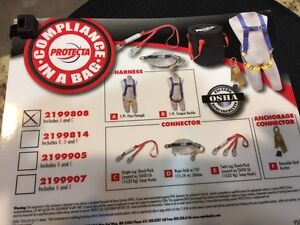Protecta Compliance In A Bag 6 Lanyard Fall Protection Harness 2199808