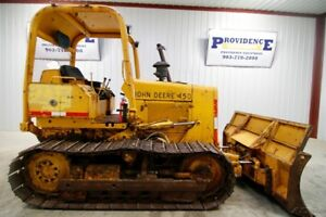 John Deere 450 Crawler Dozer 16 Track 57 Hp Powertrain 88 Six Way Blade